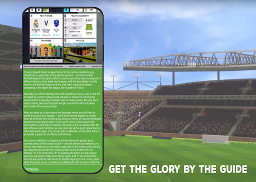 Screenshots Guide for Dream Cup League Soccer 2021 1 0 4